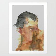 His Profile Art Print
