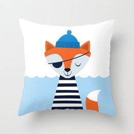 Salty Fox Throw Pillow