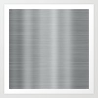 metal Art Prints featuring Metal by Texture