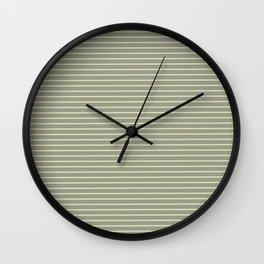 Seafoam Neutral Striped Palette Wall Clock