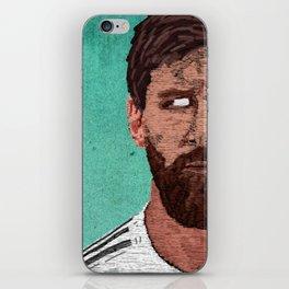 Leonel Messi Portrait iPhone Skin