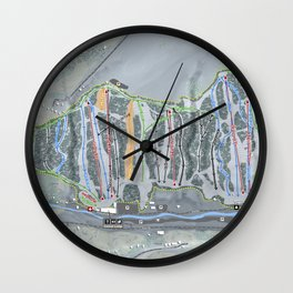 Kissing Bridge Trail Map Wall Clock