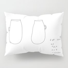 For Peace - coffee cup illustration Pillow Sham