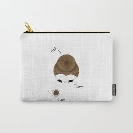 Bun, Coffee, Lashes Carry-All Pouch