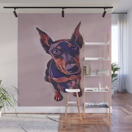 Black and Tan Doberman Pinscher Wall Mural