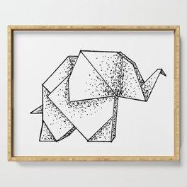 Origami Elephant Serving Tray