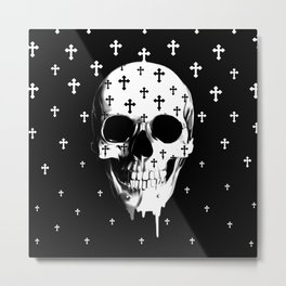 After Market, gothic skull Metal Print