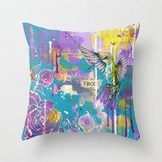 A Hummingbirds Folly Throw Pillow