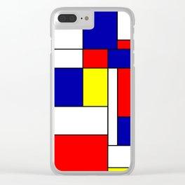 Mondrian #38 Clear iPhone Case
