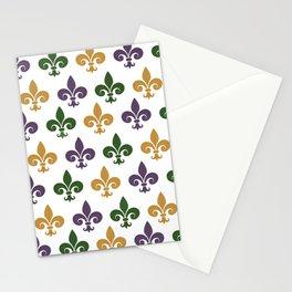 Mardi Gras Fleur-de-lis Stationery Cards