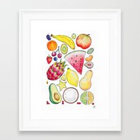 fruits Framed Art Prints featuring Fruits by Hacklock
