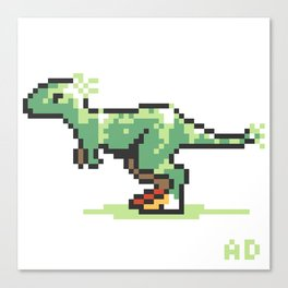 8-Bit T-Rex Canvas Print