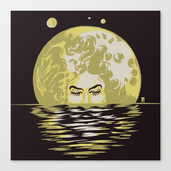 Miss Moonlight Canvas Print