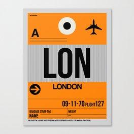 LON London Luggage Tag 1 Canvas Print