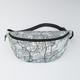 Braunschweig, Germany, White, City, Map Fanny Pack