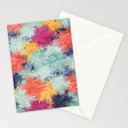 Tropical Fan Palm Paradise – Colorful #03 Stationery Cards