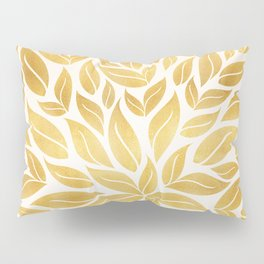 Golden Leaf Mandala Pillow Sham