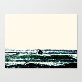 The Lone Paddler Canvas Print