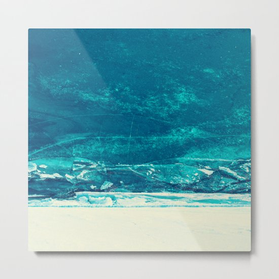 Icy Wave Pattern Metal Print