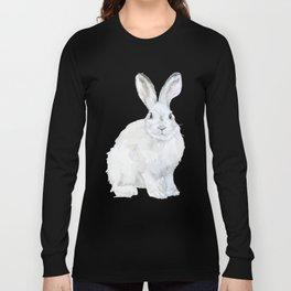 Arctic Rabbit Watercolor Long Sleeve T-shirt