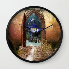 Awesome marlin Wall Clock