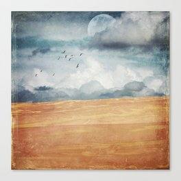 Where Land Meets Sky Canvas Print