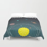 solar system Duvet Covers featuring Solar System by scarriebarrie