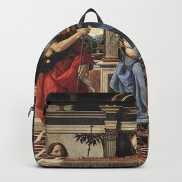 Andrea del Verrocchio - Madonna with Sts John the Baptist and Donatus Backpack