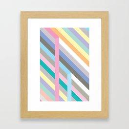 Pastel colors Framed Art Print