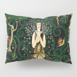 1921 Classical Masterpiece 'Flowers and Flames' by Kay Nielsen Pillow Sham