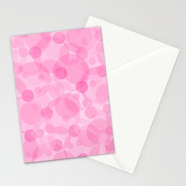 Pink Bubbles 1 Stationery Cards