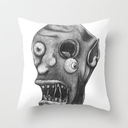 Gruesome Zombie Throw Pillow