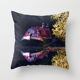 Anyone for coal on the oxford canal Throw Pillow