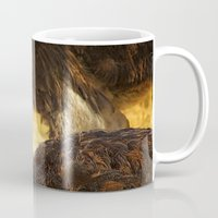 ostrich Mugs featuring Ostrich by Unfocussed