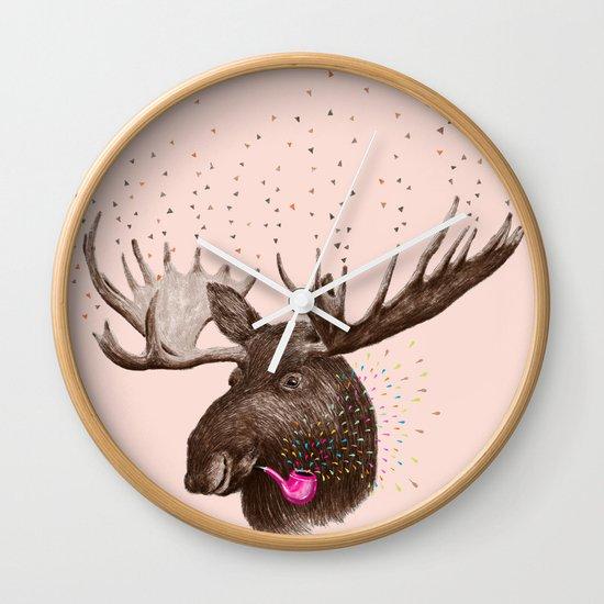 Moose III Wall Clock