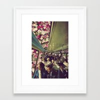 subway Framed Art Prints featuring subway by Caroline A