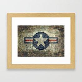 USAF vintage retro roundel #2 Framed Art Print