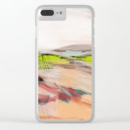 landscape in pastel abstract Clear iPhone Case