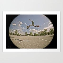 jumping stilts! Art Print