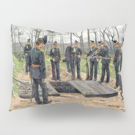 Isaac Lazarus Israels - Military Funeral - Digital Remastered Edition Pillow Sham