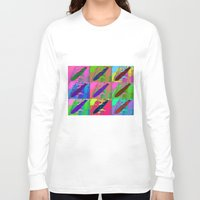 led zeppelin Long Sleeve T-shirts featuring Zeppelin Warhol by Sara PixelPixie