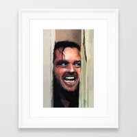 fear Framed Art Prints featuring Fear. by Emiliano Morciano (Ateyo)
