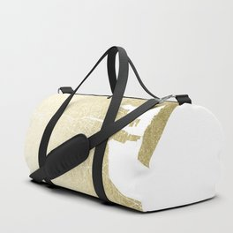 Dublin Street Map Gold and White Duffle Bag