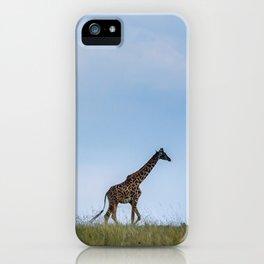 A Morning Walk: A Giraffe at Dusk iPhone Case