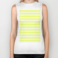 stripes Biker Tanks featuring Stripes by SimplyChic