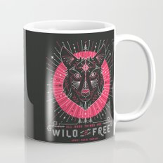 Wild & Free Wolf – Pink & Black Palette Mug