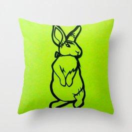 Frankenstein's Bunny Throw Pillow