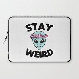 Stay Weird Alien Head Laptop Sleeve