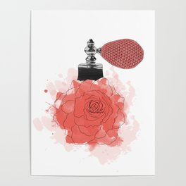 Red Rose Perfume Poster