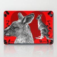 kangaroo iPad Cases featuring Kangaroo by SwanniePhotoArt